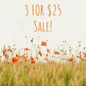 3/$25 Sale!